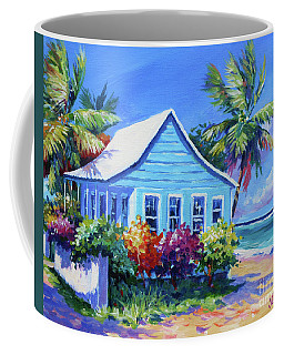 Blue Cottage On The Beach Coffee Mug