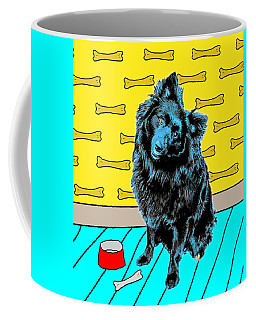 Coffee Mug featuring the photograph Blue Dog by Lou Novick
