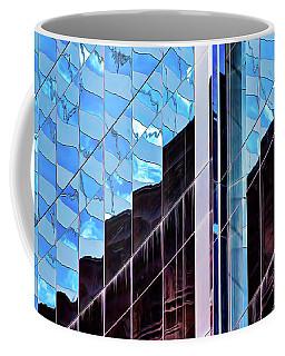 Blue Flags And Monoliths Coffee Mug