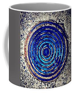 Blue Grate Coffee Mug
