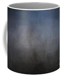 Blue Gray Abstract Background With Blurred Geometric Shapes. Coffee Mug