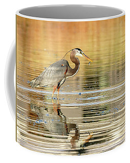 Blue Heron Fishing Coffee Mug