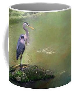 Blue Heron Isolated Coffee Mug