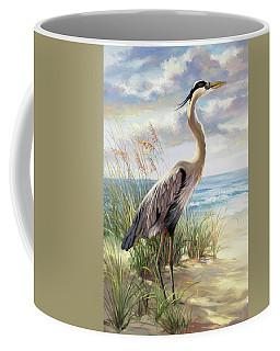 Blue Heron Right Coffee Mug