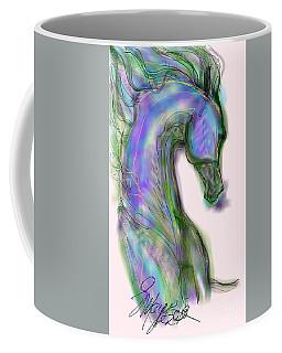Blue Horse Painting Coffee Mug
