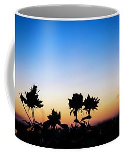 Blue Hour Sunset With Flowers Coffee Mug
