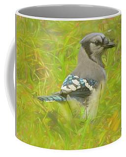 Blue Jay On The Ground. Coffee Mug