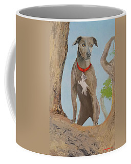 Blue Lacey Dog Coffee Mug