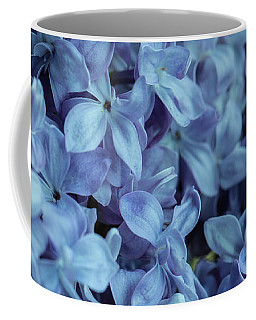 Coffee Mug featuring the photograph Blue Lilacs by Mark Shoolery