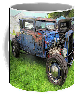 Blue Model A Ford Patina Rod Coffee Mug