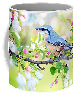 Blue Orange Bird Coffee Mug