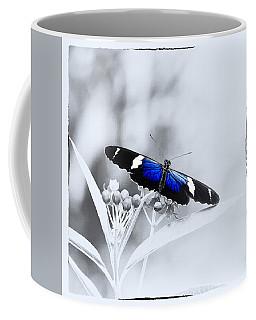 Coffee Mug featuring the photograph Blue Postman Butterfly by Jaroslav Buna