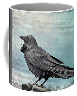 Coffee Mug featuring the photograph Blue Raven by Mary Hone