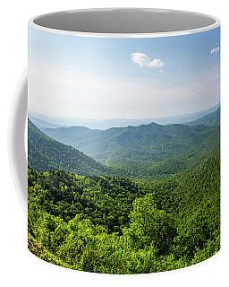 Blue Ridge Mountain Overlook In North Carolina Coffee Mug
