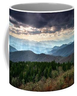 Blue Ridge Mountains Asheville Nc Scenic Light Rays Landscape Photography Coffee Mug