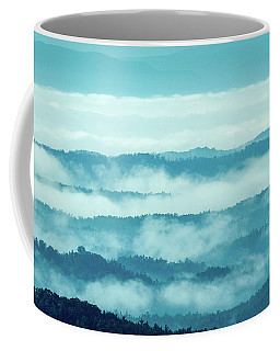Blue Ridge Mountains Layers Upon Layers In Fog Coffee Mug