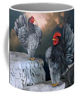 Blue Serama Pair Coffee Mug
