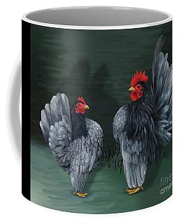 Blue Serama Pair Traditional Style Coffee Mug