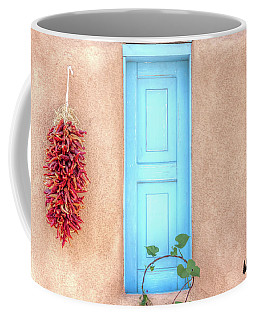 Blue Shutters And Chili Peppers Coffee Mug