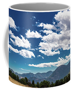 Coffee Mug featuring the photograph Blue Skies And Mountains II by James L Bartlett