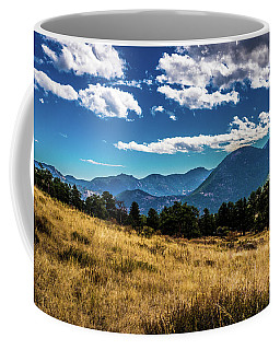 Coffee Mug featuring the photograph Blue Skies And Mountains by James L Bartlett