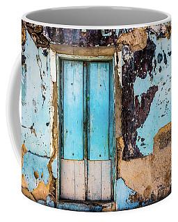 Blue Wall And Door Coffee Mug
