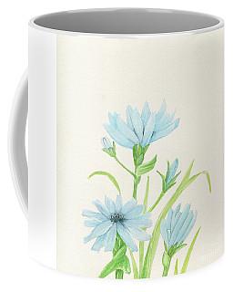 Blue Wildflowers Watercolor Coffee Mug