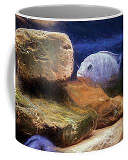 Blue Zebra Painted Coffee Mug