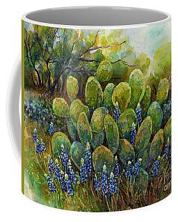 Bluebonnets And Cactus 2 Coffee Mug