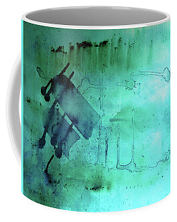 Coffee Mug featuring the painting Blues And Twos by Valerie Anne Kelly