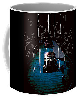 Coffee Mug featuring the photograph Blues Guitar Music Notes by Guitar Wacky