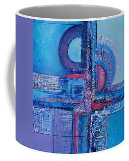 Blues With Purple Abstract Coffee Mug