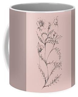 Blush Pink Flower Illustration I Coffee Mug