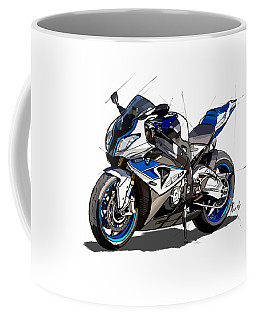 bmw motorcycle hp4. Original artwork. Original gift for bikers Coffee Mug