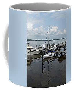 Boat In Harbor Coffee Mug