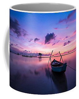 Boat Under The Sunset Coffee Mug