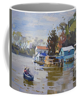 Boathouses At North Tonawanda Canal Coffee Mug
