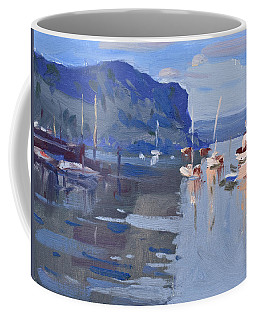 Boats At Hudson River In Rockland County Coffee Mug