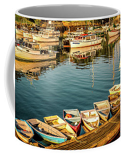 Boats In The Cove. Perkins Cove, Maine Coffee Mug