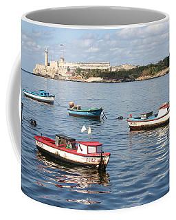 Coffee Mug featuring the photograph Boats In The Harbor Havana Cuba 112605 by Rick Veldman