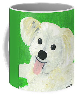 Coffee Mug featuring the painting Bobby by Suzy Mandel-Canter