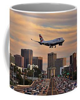 Boeing 747 Landing In San Diego Coffee Mug