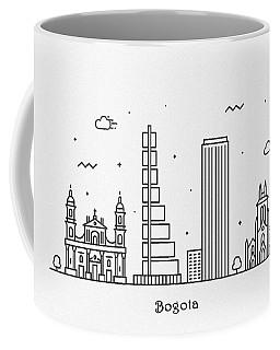 Bogota Cityscape Travel Poster Coffee Mug