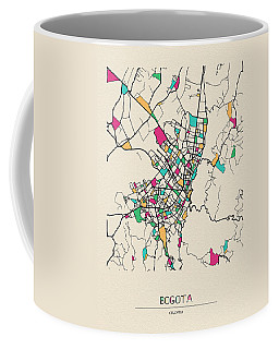 Bogota, Colombia City Map Coffee Mug