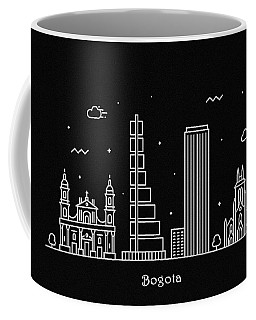 Bogota Skyline Travel Poster Coffee Mug
