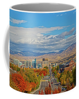 Coffee Mug featuring the photograph Boise In Fall by Dart and Suze Humeston