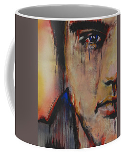 Coffee Mug featuring the pastel Born Standing Up by Eric Dee