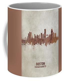 Boston Massachusetts Rust Skyline Coffee Mug