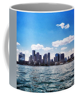 Boston Skyline From Boston Harbor  Coffee Mug
