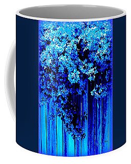 Coffee Mug featuring the photograph Bougainvillea Blues by VIVA Anderson